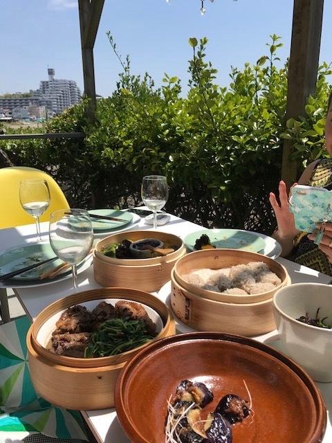 Lunch & Lunch / ご近所仲間でデッキランチ_b0195093_08540242.jpg