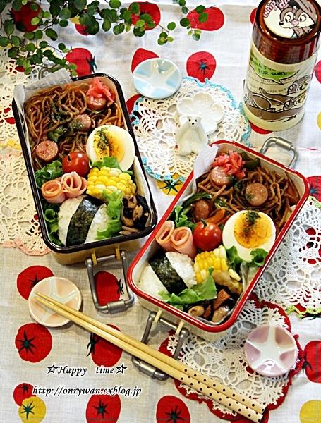 焼きそば弁当と手羽元と野菜のグリル焼き♪_f0348032_18164481.jpg