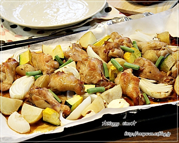 焼きそば弁当と手羽元と野菜のグリル焼き♪_f0348032_18263898.jpg