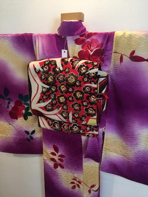明日から!新宿京王「今昔きもの市」ぼかしが綺麗薔薇着物♪販売商品22_c0321302_12135156.jpg