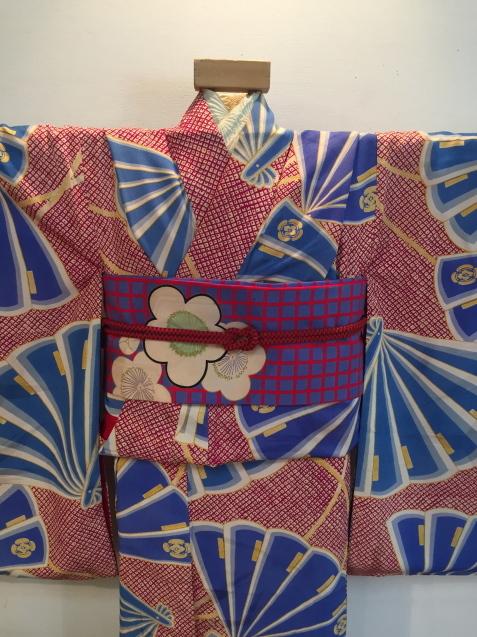 明日から!新宿京王「今昔きもの市」赤鹿の子水色扇着物♪販売商品24_c0321302_12445490.jpg