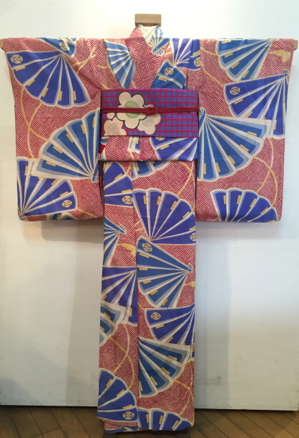 明日から!新宿京王「今昔きもの市」赤鹿の子水色扇着物♪販売商品24_c0321302_12450790.jpg