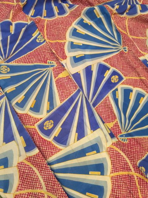 明日から!新宿京王「今昔きもの市」赤鹿の子水色扇着物♪販売商品24_c0321302_12463778.jpg