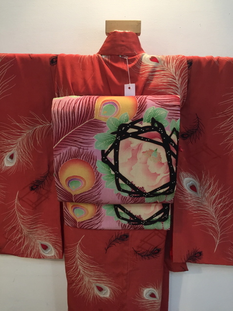 明日から!新宿京王「今昔きもの市」孔雀羽着物♪販売商品26_c0321302_13092663.jpg