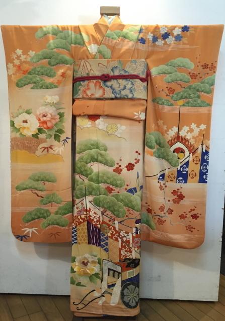 明日から!新宿京王「今昔きもの市」古典柄の華やか振袖×縞刺繍丸帯♪販売商品27_c0321302_13320878.jpg