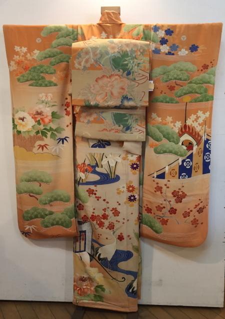明日から!新宿京王「今昔きもの市」古典柄の華やか振袖×縞刺繍丸帯♪販売商品27_c0321302_13325632.jpg