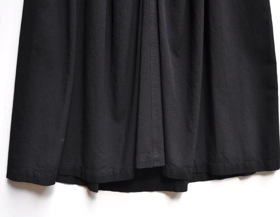 バンブーコットン ギャザースカート&サルエルパンツ 【ブラック】_d0193211_11514810.jpg