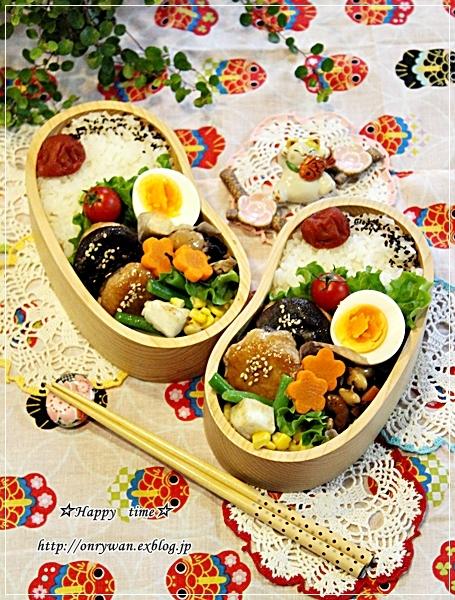 椎茸つくねの照焼き弁当と紫陽花♪_f0348032_17533920.jpg