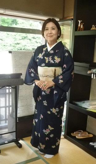 東京からのお客様・夏の小紋+博多八寸+藤岡組紐。_f0181251_1932181.jpg