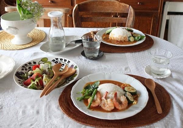 週末料理 エビクリームカレー_f0374092_16522728.jpg