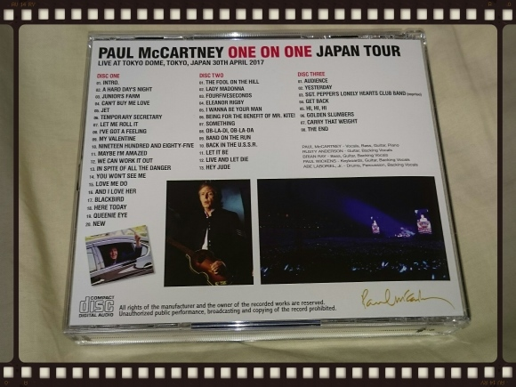 PAUL McCARTNEY / TOKYO DOME 2017 3RD NIGHT_b0042308_16512746.jpg