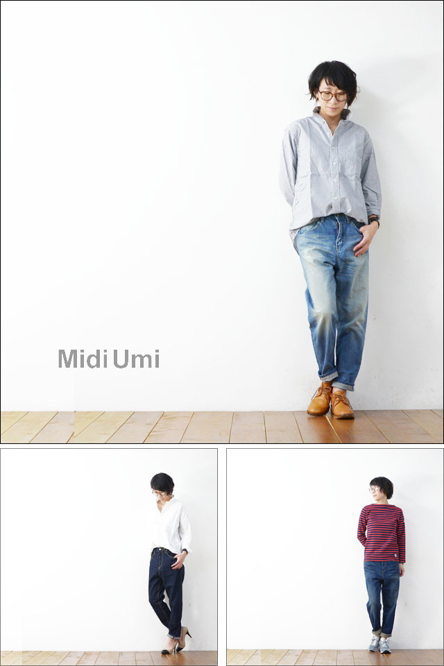 MidiUmi [ミディウミ] high waist denim PANTS [4-72099] ハイウエストデニムパンツ LADY\'S_f0051306_16412406.jpg