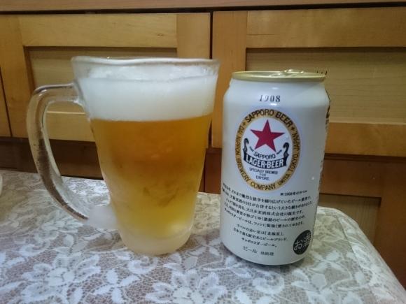 6/30 サッポロラガービール赤星2017 + サントリープレミアムこくしぼり芳醇メロン + 日本一焼き鳥_b0042308_15541935.jpg