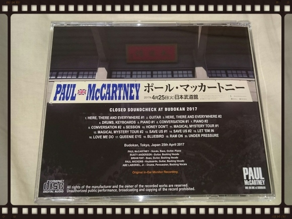 PAUL McCARTNEY / CLOSED SOUNDCHECK AT BUDOKAN 2017_b0042308_16112201.jpg