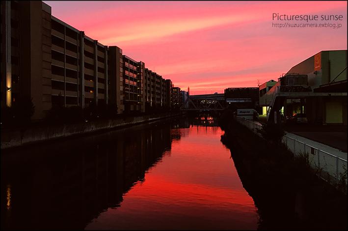 運河の夕焼け_f0100215_23574522.jpeg