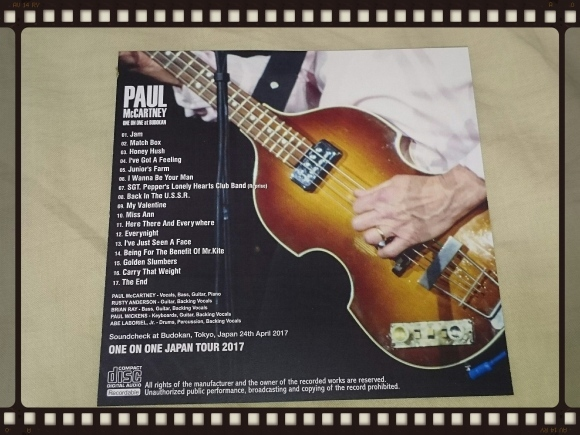 PAUL McCARTNEY / SOUNDCHECK at BUDOKAN_b0042308_16195388.jpg