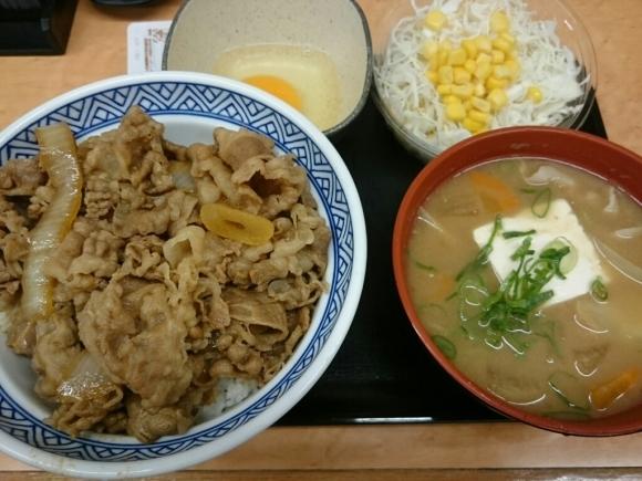 7/2  牛丼アタマの大盛豚汁Aセット + 生玉子 合計¥800 @吉野家_b0042308_19174371.jpg
