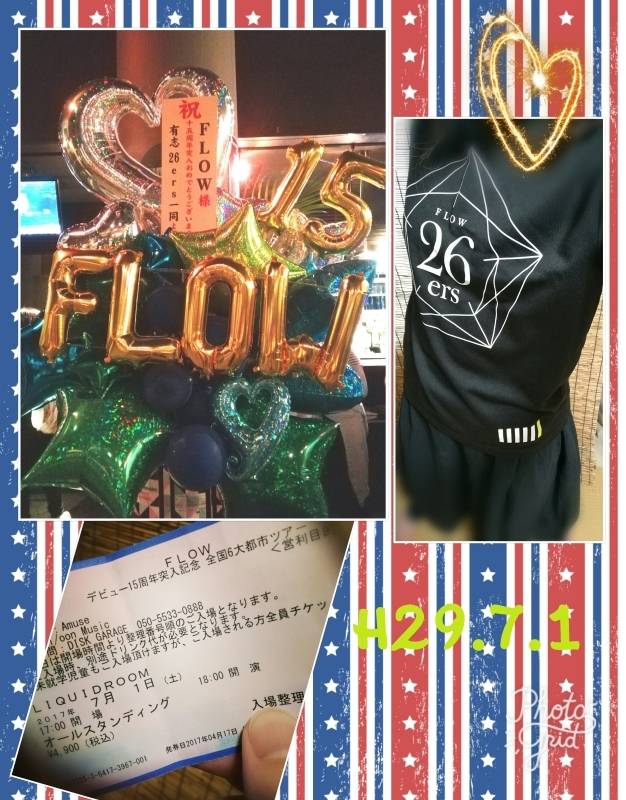 ☆FLOW 15th Anniversary TOUR 2017☆_f0351775_11001633.jpg
