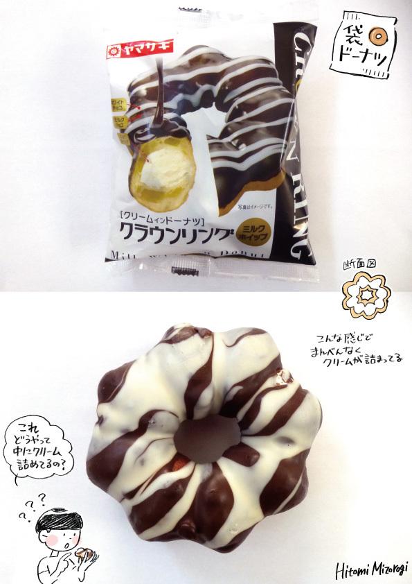 【袋ドーナツ】山崎製パン「クラウンリング」【謎の製法】_d0272182_22311530.jpg
