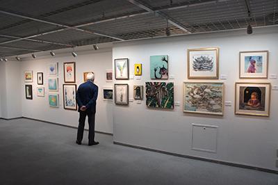 「現代アーティスト クレパス画展」開催中です。_f0171840_11400530.jpg