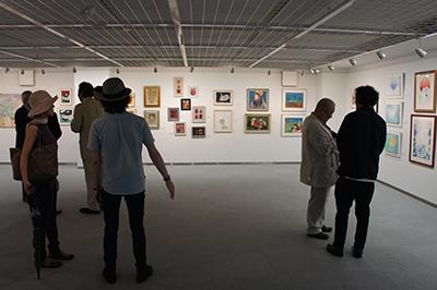 「現代アーティスト クレパス画展」開催中です。_f0171840_11451971.jpg