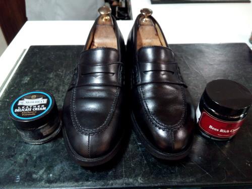 頑張った靴をしっかり黒く!②_d0166598_16104358.jpg
