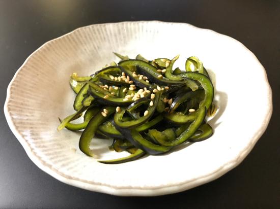 黒ピーマンの麺つゆ漬け_e0264003_23213794.jpg