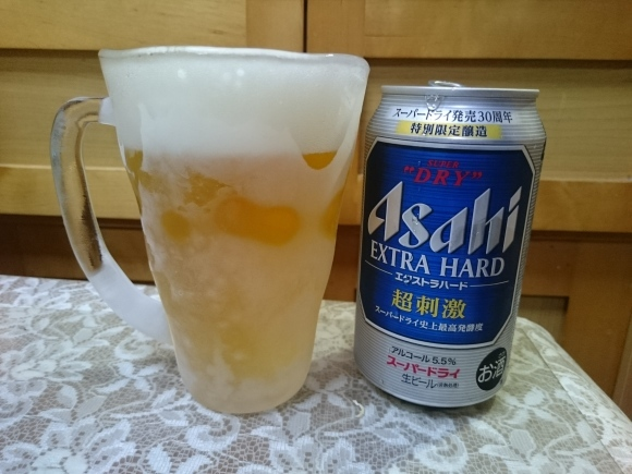 7/5 アサヒスーパードライ超刺激 + 冷凍食品いろいろ_b0042308_08092348.jpg