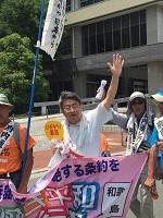 2017年7月7日―、この歴史的な日に平和行進は兵庫県に入りました_c0133503_19353137.jpg