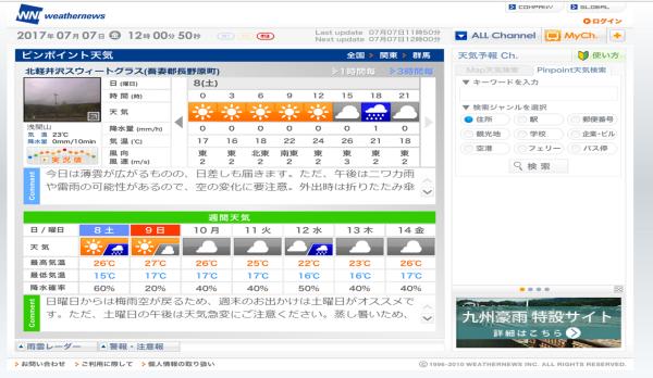 週末の天気と気温(7月2週目)_b0174425_12074177.png