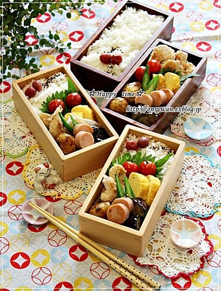 レモン風味のチキンソテー弁当と新小ジャガの醤油煮とわんこ♪_f0348032_17420180.jpg