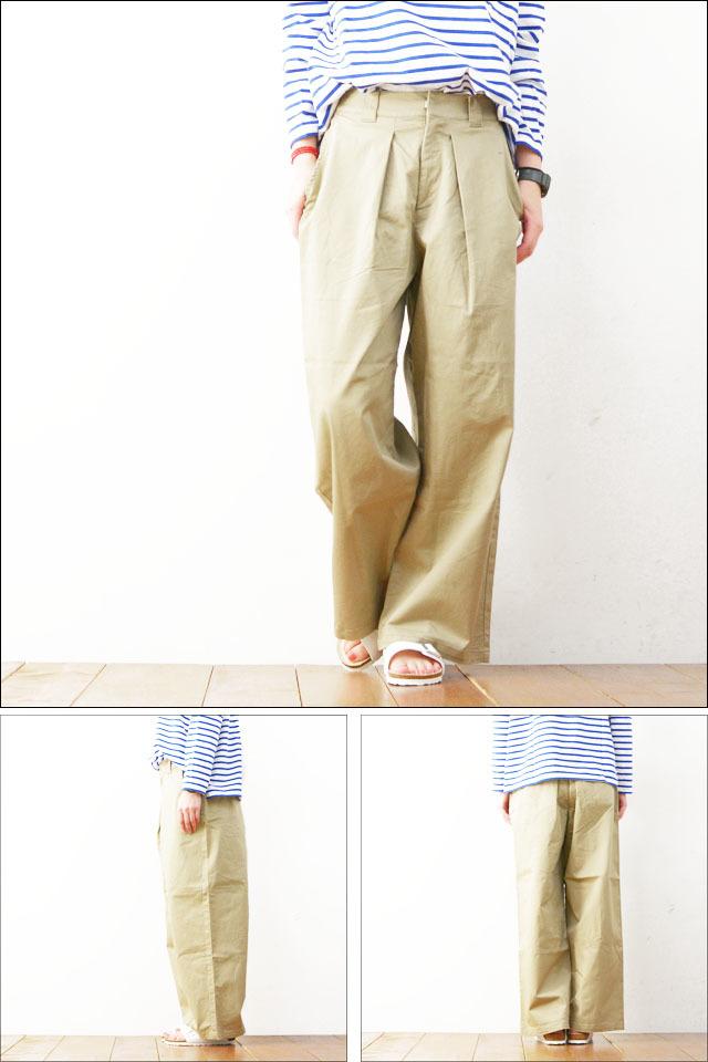 MidiUmi [ミディウミ] wide tucked chino PT [1-762688] ワイドタックチノパンツ ロングパンツ ワイドパンツ LADY\'S_f0051306_17572462.jpg