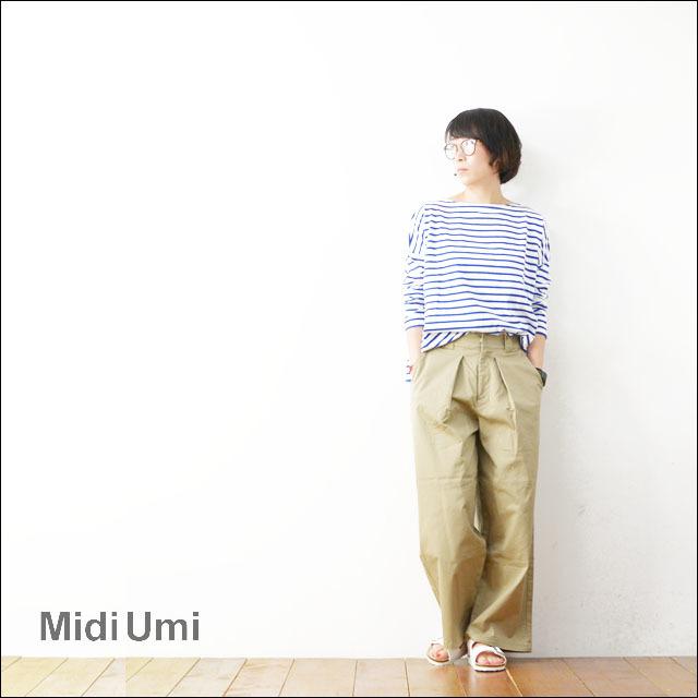 MidiUmi [ミディウミ] wide tucked chino PT [1-762688] ワイドタックチノパンツ ロングパンツ ワイドパンツ LADY\'S_f0051306_17572930.jpg