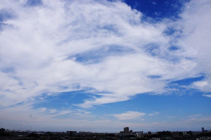真夏の雲 (積雲と巻積雲)_b0268615_7462069.jpg