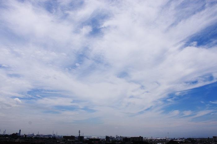 真夏の雲 (積雲と巻積雲)_b0268615_747333.jpg