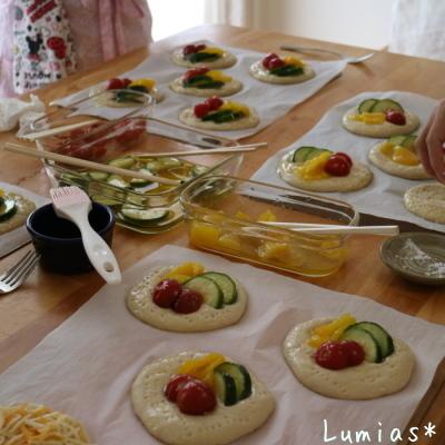 夏野菜のフォカッチャ_b0235923_22140384.jpg