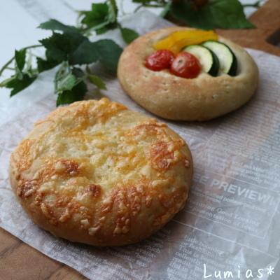 夏野菜のフォカッチャ_b0235923_22155559.jpg