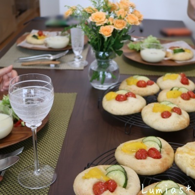 夏野菜のフォカッチャ_b0235923_23000161.jpg