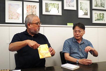 クー・ギャラリー『飯田信雄展[PARTICLE]』でのトークショー_f0165332_15224733.jpg