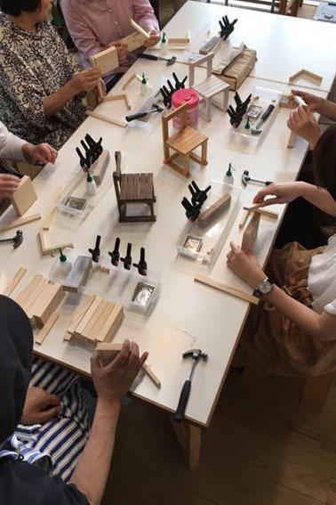 DIYワークショップ『ミニチュア椅子を作ろう!』7月の部が終了しました。_c0334574_19383468.jpg