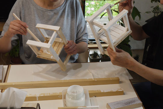 DIYワークショップ『ミニチュア椅子を作ろう!』7月の部が終了しました。_c0334574_19543864.jpg