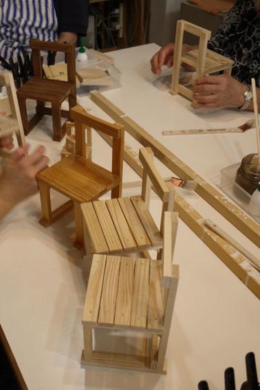 DIYワークショップ『ミニチュア椅子を作ろう!』7月の部が終了しました。_c0334574_19565257.jpg