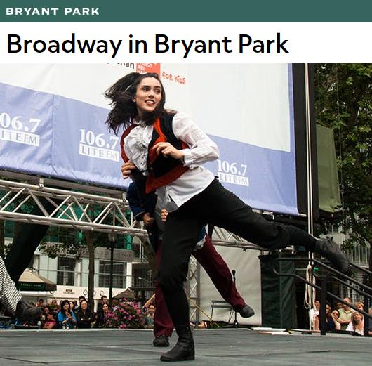 ブロードウェイ・イン・ブライアントパーク(Broadway in Bryant Park)2017_b0007805_4355464.jpg
