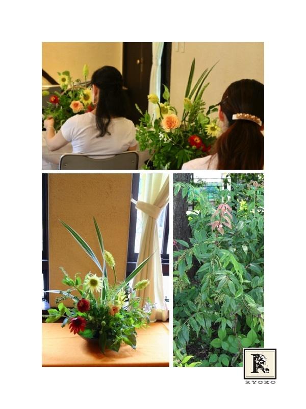 夏のお花たち 「亮子さんのフラワーレッスン」_c0128489_18483768.jpg