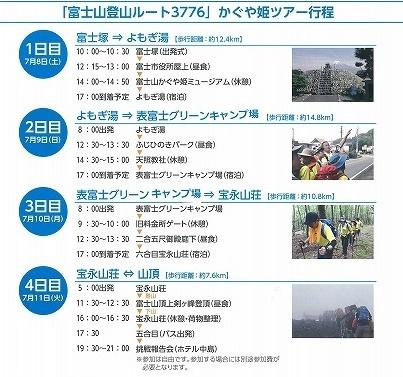 「かぐや姫の富士山への里帰り」 富士山登山ルート3776ツアーの皆さんを吉原商店街で歓迎_f0141310_06330108.jpg