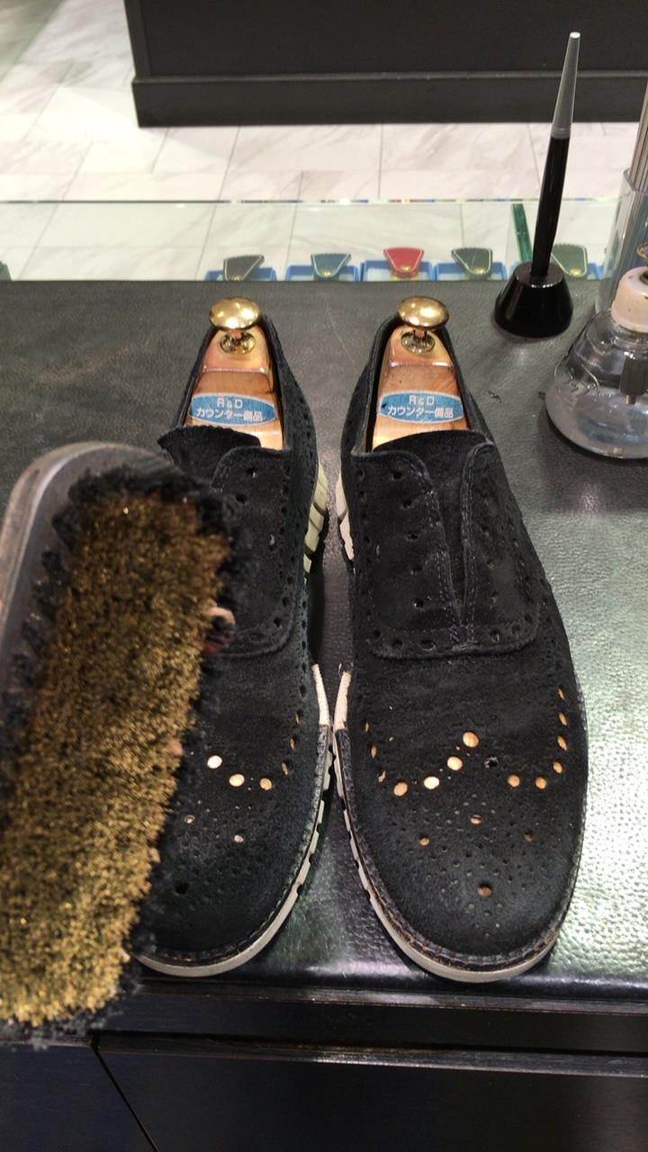 コールハーンスエード靴補色_b0226322_15284261.jpg