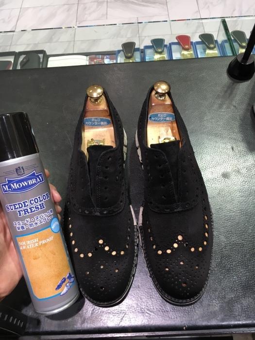 コールハーンスエード靴補色_b0226322_15284375.jpg