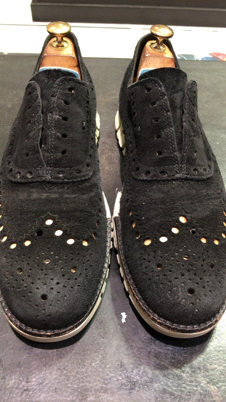 コールハーンスエード靴補色_b0226322_15285799.jpg