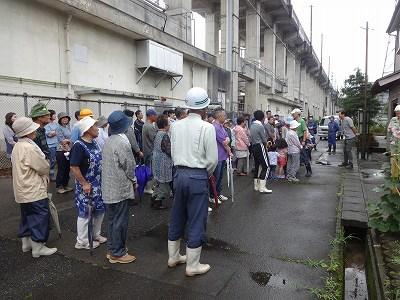 市防災訓練   新町常会   集中豪雨で黒沢川_f0019487_1771555.jpg