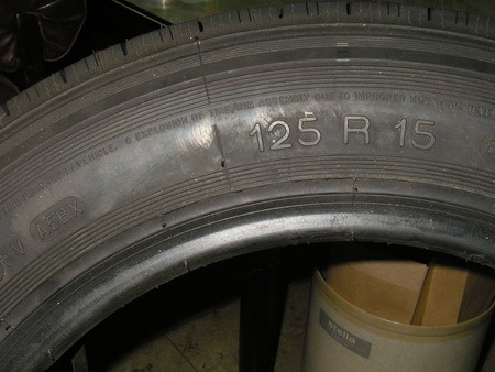 サイドカー 15インチ用タイヤ ミシュランRADIAL X 125R-15 新品_e0218639_10274137.jpg